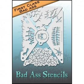 Pochoirs First class Bad Ass Zombie BFXBA-2004