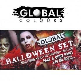 Kit phosphorescent-sang-couleurs Halloween Global