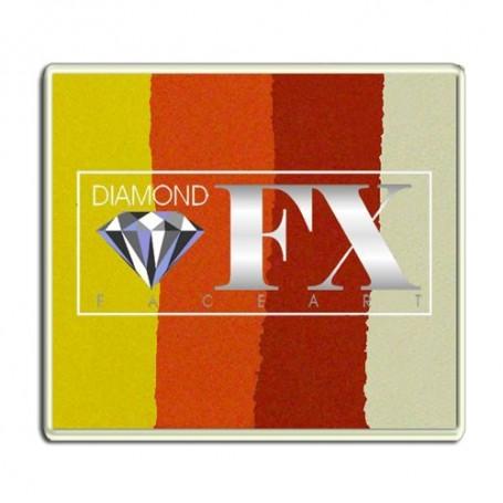 Split cake Diamond FX : Maquillage artistique multicolore à l'eau Soleil
