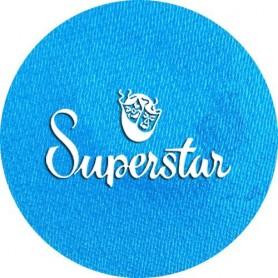 Maquillage artistique Superstar bleu ciel métallisé