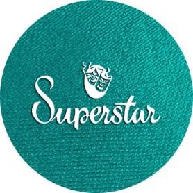 Maquillage artistique Superstar vert paon métallisé