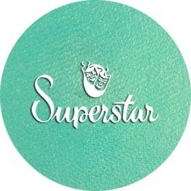 Maquillage artistique Superstar vert clair métallisé