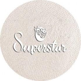 Maquillage artistique Superstar blanc argenté avec paillettes métallisé