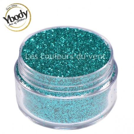 Paillettes bleu vert aquamarine Ybody (5g)