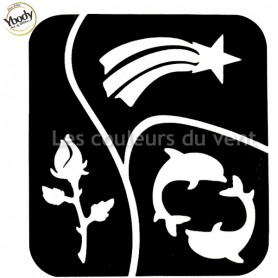 Tatouage dauphin rose étoile Ybody