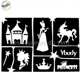 Planche de 7 tatouages princesse Ybody