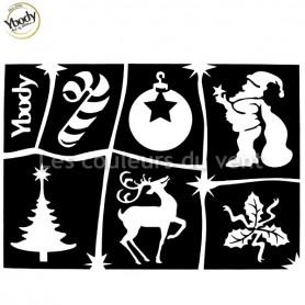 Planche de 6 tatouages Noël Ybody