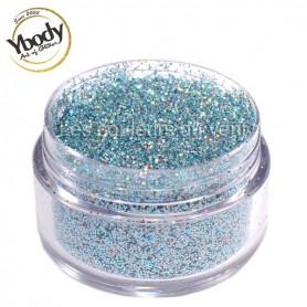 Paillettes holographique bleues aquamarine Ybody (5g)