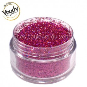 Paillettes holographique rose Ybody (5g)