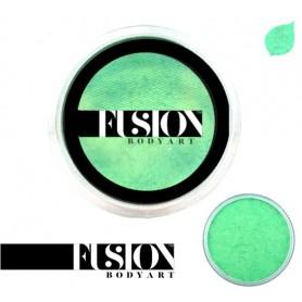 Maquillaje artístico verde menta metálico Fusion