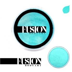 Maquillaje artístico pavo real metálico Fusion