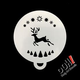 Bad ass stencil Reindeer