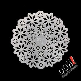 Pochoir Snowflake Sphere Ooh ! Stencils