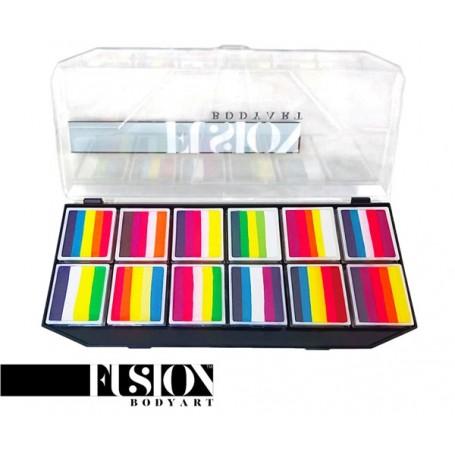 Palette de maquillages multicolores Fusion Leanne's collection Tropical & Butterfly (néon)