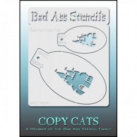 Pochoirs Bad Ass Copy Cat Château