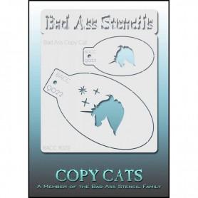 Pochoirs Bad Ass Copy Cat Licorne