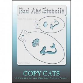 Pochoirs Bad Ass Copy Cat Sirène