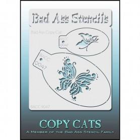 Pochoirs Bad Ass Copy Cat Papillon