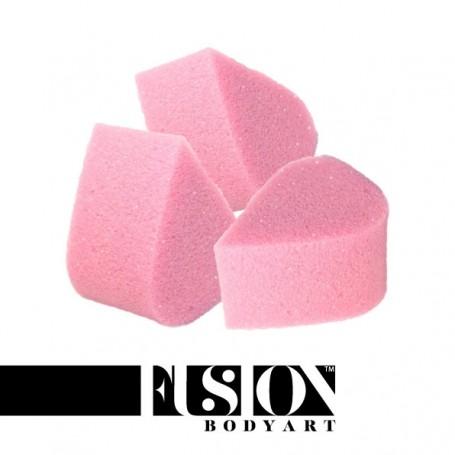 Lot de 3 éponge pétale rose Fusion