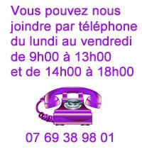 Contact téléphonique Les couleurs du vent