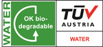 Certification TUV water biodégradable